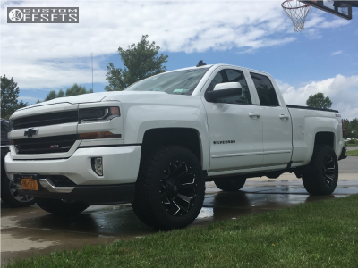 2016 Chevrolet Silverado 1500 - 20x10 -18mm - Fuel Assault - Leveling Kit - 305/55R20