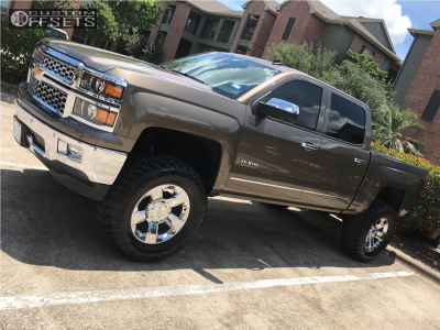 """2014 Chevrolet Silverado 1500 - 20x8.5 31mm - Spaced Out Stockers Spaced Out Stockers - Suspension Lift 7.5"""" - 37"""" x 13.5"""""""