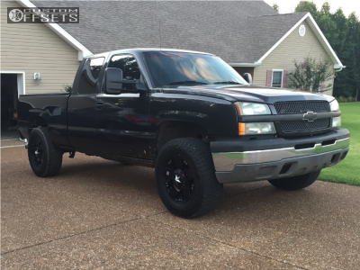 "2003 Chevrolet Silverado 1500 - 18x9 0mm - Xd Rockstar - Suspension Lift 4.5"" - 285/65R18"
