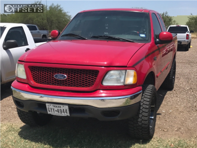 """2003 Ford F-150 - 20x9 0mm - 2crave Nx-3 - Suspension Lift 5.5"""" - 285/55R20"""