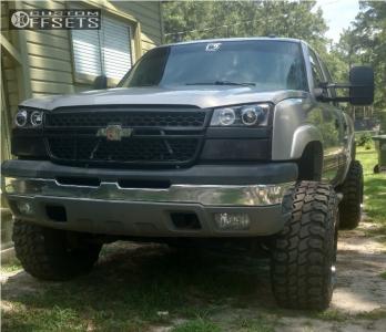 "2005 Chevrolet Silverado 1500 - 20x14 -76mm - Hostile Switch Blade - Suspension Lift 6"" - 35"" x 12.5"""
