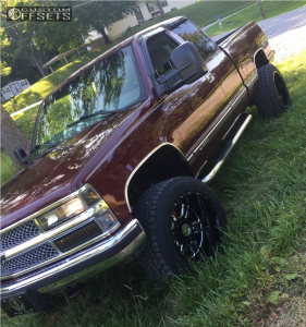 "1998 Chevrolet K1500 - 20x12 -51mm - Vision Rage - Suspension Lift 3"" - 305/50R20"