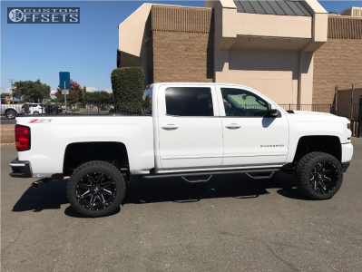 "2017 Chevrolet Silverado 1500 - 20x12 -44mm - Hostile Alpha - Suspension Lift 6"" - 33"" x 12.5"""