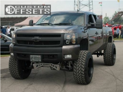 "2008 Chevrolet Silverado 1500 - 22x14 -76mm - Fuel Octane - Suspension Lift 10"" - 37"" x 13.5"""