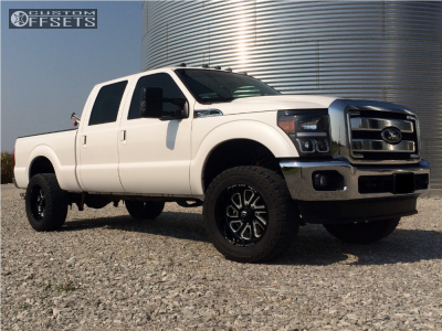 "2015 Ford F-250 Super Duty - 20x10 -18mm - Fuel Flow - Leveling Kit - 35"" x 12.5"""
