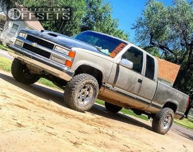 1998 Chevrolet K1500 - 16x8 0mm - Helo He791 - Leveling Kit - 265/75R16