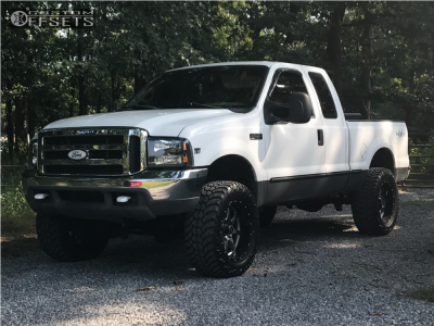 "1999 Ford F-250 Super Duty - 20x10 -24mm - Moto Metal Mo970 - Leveling Kit - 35"" x 12.5"""