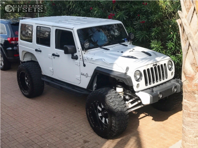 "2015 Jeep Wrangler - 20x12 -44mm - Moto Metal Mo962 - Suspension Lift 3.5"" - 37"" x 13.5"""