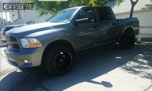 """2012 Ram 1500 - 20x12 -44mm - Red Dirt Road Rd01 - Leveling Kit - 33"""" x 12.5"""""""