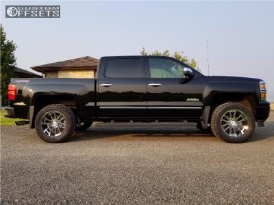 "2014 Chevrolet Silverado 1500 - 20x10 -19mm - Hostile Gauntlet - Leveling Kit - 33"" x 12.5"""
