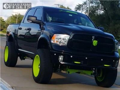 """2015 Dodge Ram 1500 - 20x12 -44mm - XF Offroad Xf-203 - Suspension Lift 6"""" - 35"""" x 12.5"""""""