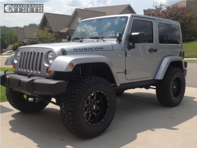 "2013 Jeep Wrangler - 18x10 -24mm - Moto Metal Mo970 - Suspension Lift 3.5"" - 35"" x 12.5"""