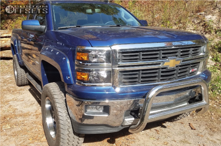 """2015 Chevrolet Silverado 1500 - 20x10 -24mm - Fuel Krank - Suspension Lift 6"""" - 325/60R20"""