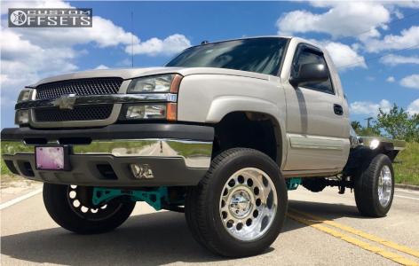"2005 Chevrolet Silverado 1500 - 20x10 -20mm - American Eagle Series 101 - Suspension Lift 6"" - 275/60R20"