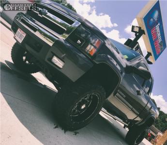"2010 Chevrolet Silverado 1500 - 20x10 -12mm - Mayhem Monstir - Suspension Lift 6"" - 35"" x 12.5"""