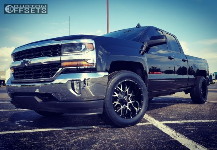 "2017 Chevrolet Silverado 1500 - 20x10 -19mm - Dropstars 645mb - Level 2"" Drop Rear - 305/50R20"