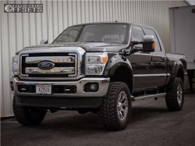 """2015 Ford F-250 Super Duty - 20x9 -12mm - Helo He878 - Suspension Lift 4"""" - 35"""" x 12.5"""""""