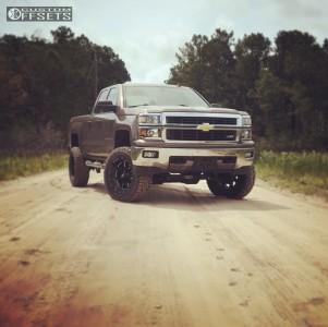 "2014 Chevrolet Silverado 1500 - 20x10 -24mm - Moto Metal Mo962 - Suspension Lift 6"" - 35"" x 12.5"""
