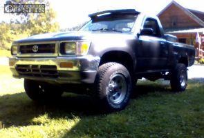 1993 Toyota Pickup - 15x7 -6mm - American Racing Baja - Stock Suspension - 235/75R15