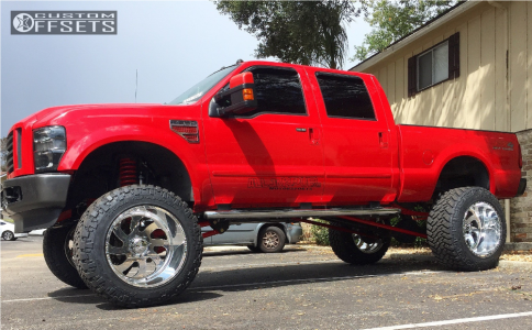 """2008 Ford F-250 - 24x16 -101.6mm - American Force Blade SS - Suspension Lift 10"""" - 40"""" x 15.5"""""""