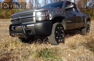 """2008 Chevrolet Silverado 1500 - 20x9 12mm - Ballistic Jester - Suspension Lift 3"""" - 305/55R20"""