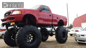 """1997 Ford F-150 - 20x14 -76mm - XD Riot - Lifted >9"""" - 53"""" x16"""""""
