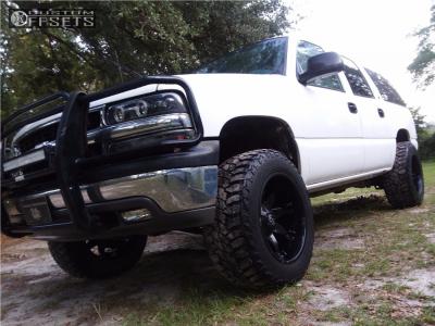 "2000 Chevrolet K1500 Suburban - 20x12 -44mm - Fuel Octane - Body Lift 3"" - 35"" x 12.5"""