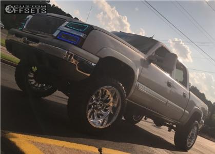"2004 Chevrolet Silverado 1500 - 22x12 -51mm - Fuel Forged Ff36 - Suspension Lift 6"" - 35"" x 12.5"""