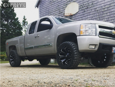 "2008 Chevrolet Silverado 1500 - 20x10 -18mm - Fuel Assault - Suspension Lift 3.5"" - 33"" x 12.5"""
