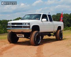 "1995 Chevrolet K1500 - 15x10 -50mm - Chevy Rally - Suspension Lift 6"" & Body 3"" - 37"" x 14.5"""