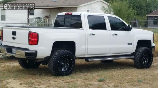 "2014 Chevrolet Silverado 1500 - 20x12 -44mm - Fuel Cleaver - Suspension Lift 4.5"" - 33"" x 12.5"""