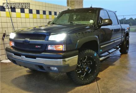 "2005 Chevrolet Silverado 1500 - 20x10 -25mm - Ultra Carnage - Leveling Kit - 33"" x 12.5"""