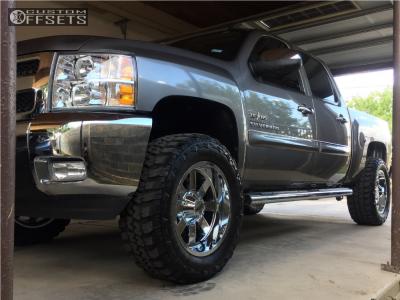 "2013 Chevrolet Silverado 1500 - 20x10 -24mm - Moto Metal Mo962 - Suspension Lift 3"" - 35"" x 12.5"""
