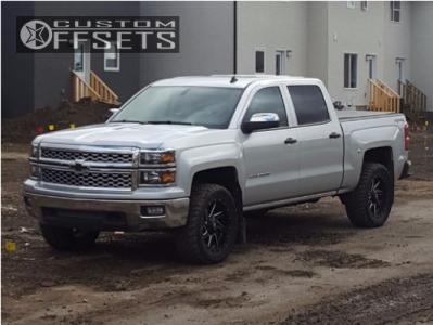 "2014 Chevrolet Silverado 1500 - 20x9 1mm - Fuel Renegade - Leveling Kit - 33"" x 12.5"""