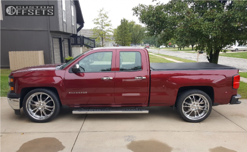 2014 Chevrolet Silverado 1500 - 24x10 30mm - Boss 313 - Lowered 2F / 4R - 305/30R24