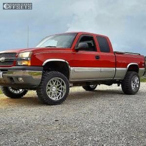 """2005 Chevrolet Silverado 1500 - 20x12 -44mm - Hostile Sprocket - Leveling Kit & Body Lift - 33"""" x 12.5"""""""