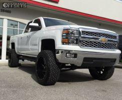 """2014 Chevrolet Silverado 1500 - 22x12 -44mm - Fuel Renegade - Suspension Lift 7.5"""" - 35"""" x 12.5"""""""