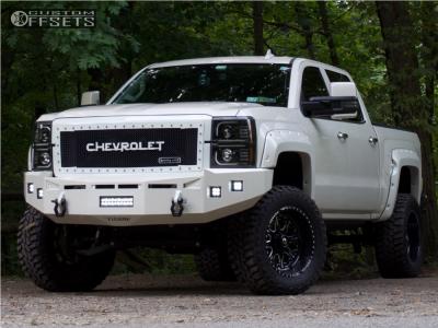 "2015 Chevrolet Silverado 1500 - 20x10 -25mm - Fuel Forged Ff25 - Suspension Lift 6.5"" - 35"" x 12.5"""