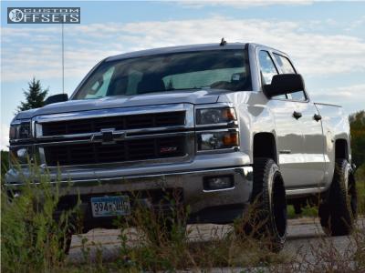2014 Chevrolet Silverado 1500 - 20x12 -44mm - Gear Off-Road Big Block - Leveling Kit - 275/55R20