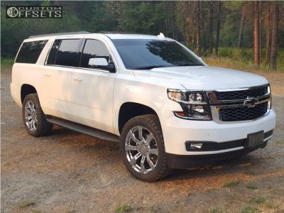 2017 Chevrolet Suburban - 22x9 31mm - Oe Performance 144 - Leveling Kit - 305/45R22