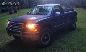 1999 Chevrolet Silverado 1500 - 16x8 -5mm - Alloy Ion Style 174 - Leveling Kit - 285/75R16