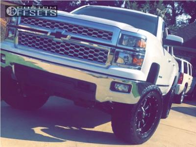"2014 Chevrolet Silverado 1500 - 20x10 -24mm - Fuel Throttle - Suspension Lift 6"" - 35"" x 12.5"""