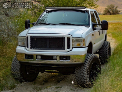 "2006 Ford F-250 Super Duty - 20x14 -76mm - Fuel Hostage - Suspension Lift 8"" - 38"" x 15.5"""