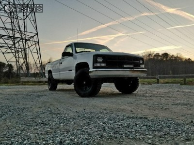 2000 Chevrolet C2500 - 16x8 0mm - Pro Comp Series 69 - Leveling Kit - 285/75R16