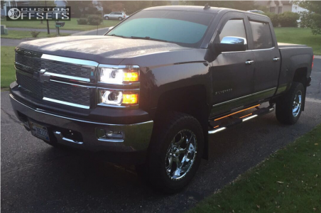 "2014 Chevrolet Silverado 1500 - 20x10 -12mm - Helo He791 - Suspension Lift 7"" - 35"" x 12.5"""
