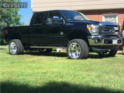 "2016 Ford F-250 Super Duty - 22x14 -73mm - American Force Fuse Ss - Suspension Lift 4"" - 355/40R22"