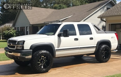 """2003 Chevrolet Avalanche - 20x12 -51mm - Vision Prowler - Leveling Kit - 35"""" x 12.5"""""""