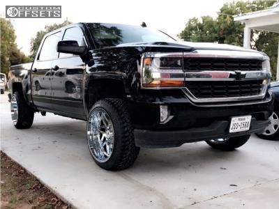 2017 Chevrolet Silverado 1500 - 22x12 -44mm - Hostile Sprocket - Leveling Kit - 275/45R22
