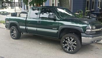 2001 Chevrolet Silverado 1500 - 20x10 -24mm - Tuff T13 - Leveling Kit - 275/55R20