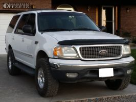 1999 Ford Expedition - 16x8.5 -25mm - Level 8 Tracker - Stock Suspension - 285/75R16